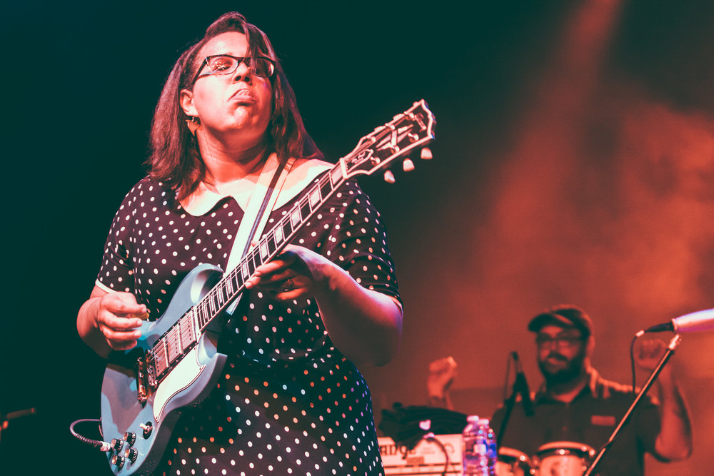 Brittany Howard of Alabama Shakes performs at Sloss Furnaces in Birmingham, Alabama on June 7th, 2013. (Photo by David A. Smith/DSmithScenes)