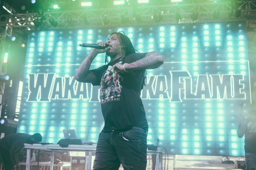 Waka Flocka Flame performs in concert during the Sloss Music and Arts Festival at Sloss Furnaces in Birmingham, Alabama on July 16th, 2017. (Photo by David A. Smith/DSmithScenes)