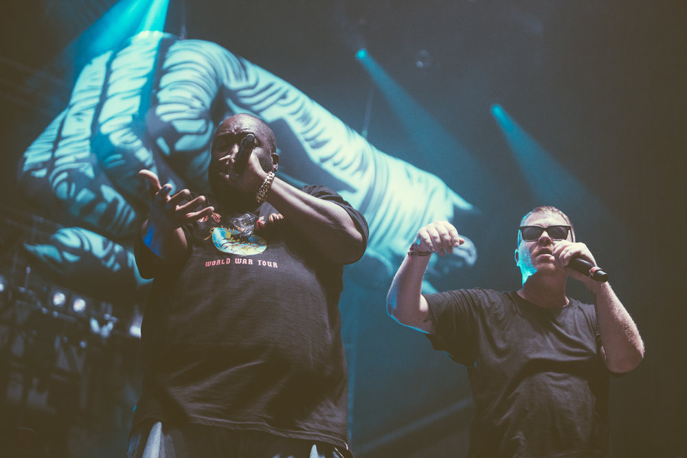 Run The Jewels perform at the Sloss Music and Arts Festival at Sloss Furnaces in Birmingham, Alabama on July 15th, 2017. (Photo by David A. Smith/DSmithScenes)