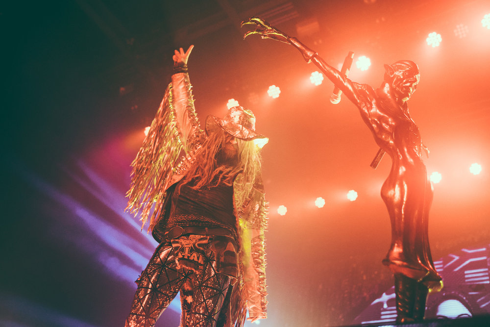 Rob Zombie performs in concert at the Coca-Cola Roxy Theatre in Atlanta, Georgia on October 3rd, 2017. (Photo by David A. Smith/DSmithScenes)