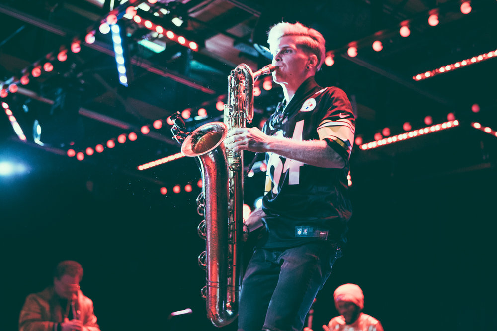 Too Many Zooz performs in concert at Saturn Birmingham in Birmingham, Alabama on January 11th, 2018. (Photo by David A. Smith/DSmithScenes)
