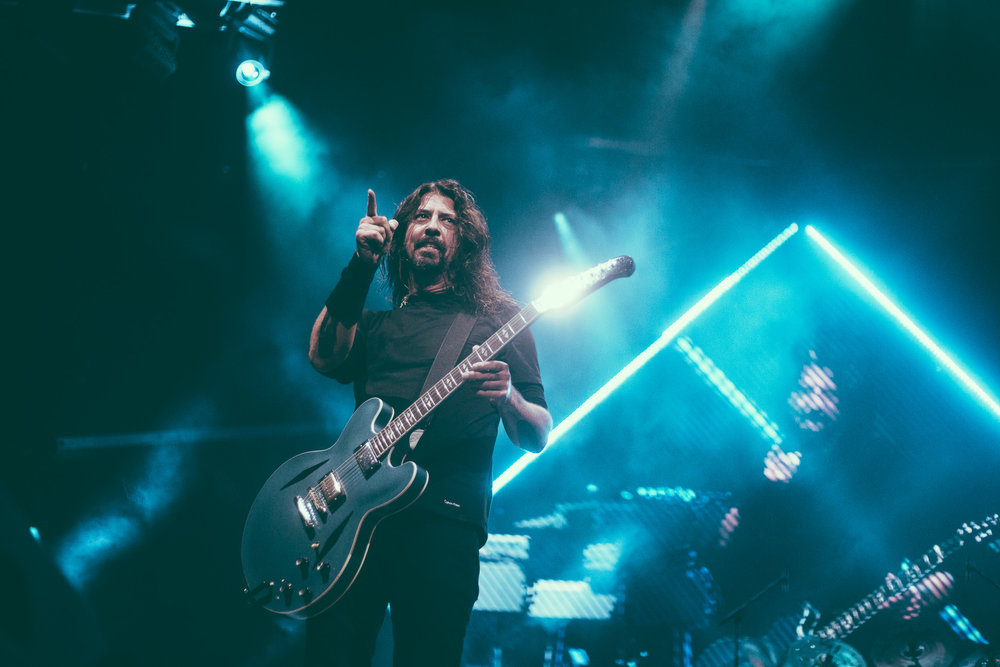 Dave Grohl of Foo Fighters performs at Legacy Arena at the Birmingham-Jefferson Civic Center in Birmingham, Alabama on October 26th, 2017. (Photo by David A. Smith/DSmithScenes)