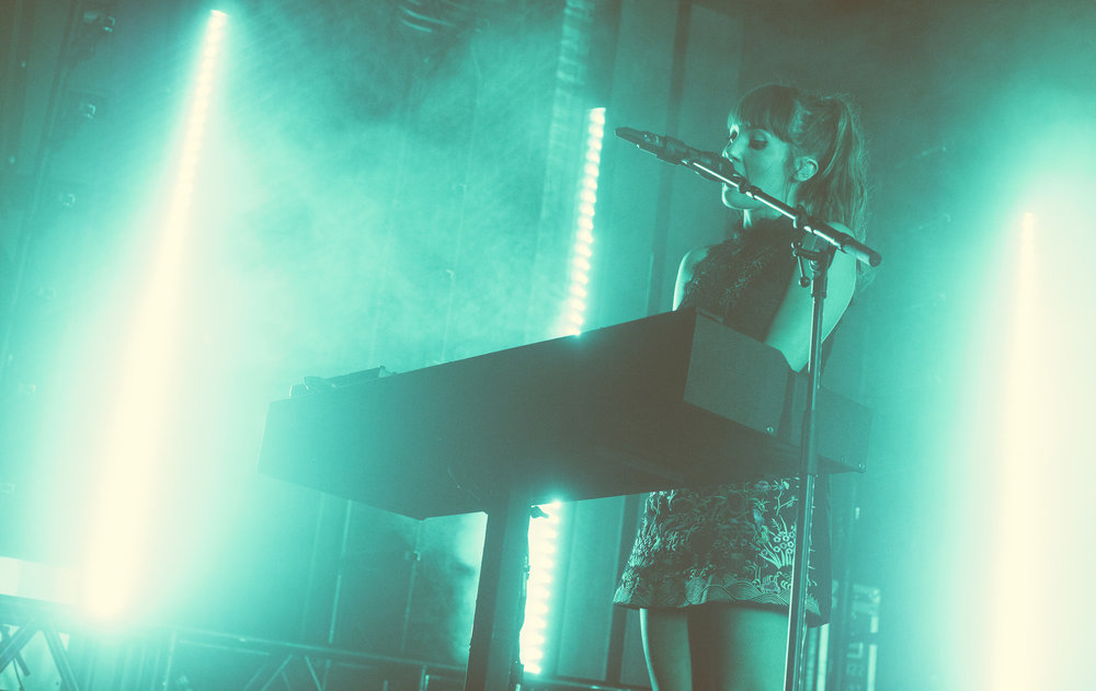 Josephine Vander Gucht of Oh Wonder performs in concert at Iron City in Birmingham, Alabama on October 8th, 2017. (Photo by David A. Smith/DSmithScenes)