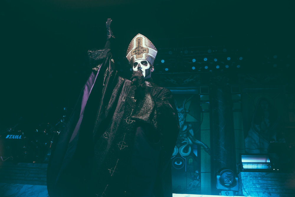 Papa Emeritus III of Ghost performs in concert at The Tabernacle in Atlanta, Georgia on June 10th, 2017. (Photo by David A. Smith/DSmithScenes)