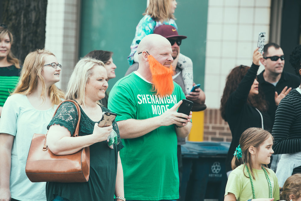 A scene from the St. Patrick's Day parade in the 5 Points South neighborhood of Birmingham, Alabama on March 17th, 2018. (Photo by David A. Smith/DSmithScenes)