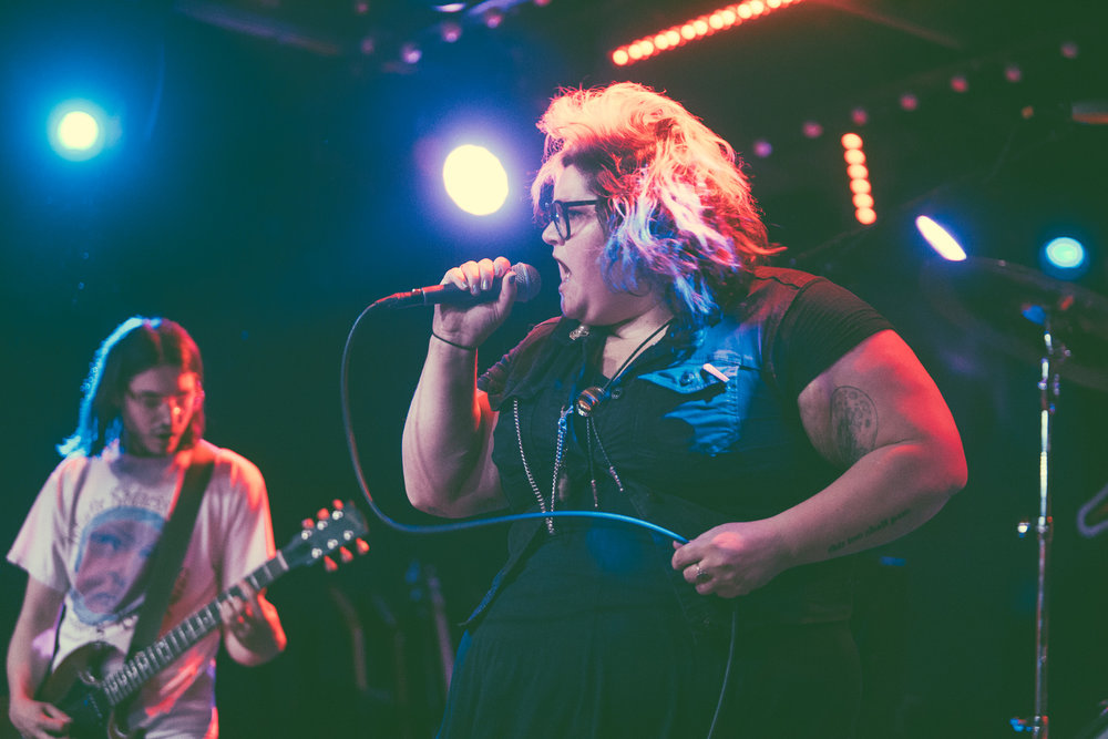Sheer Mag performs in concert at Saturn Birmingham in Birmingham, Alabama on May 1st, 2018. (Photo by David A. Smith/DSmithScenes)