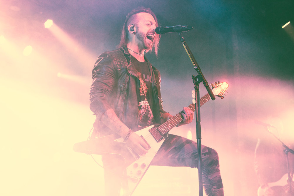 Matthew Tuck of Bullet For My Valentine performs at Iron City in Birmingham, Alabama on May 2nd, 2018. (Photo by David A. Smith/DSmithScenes)