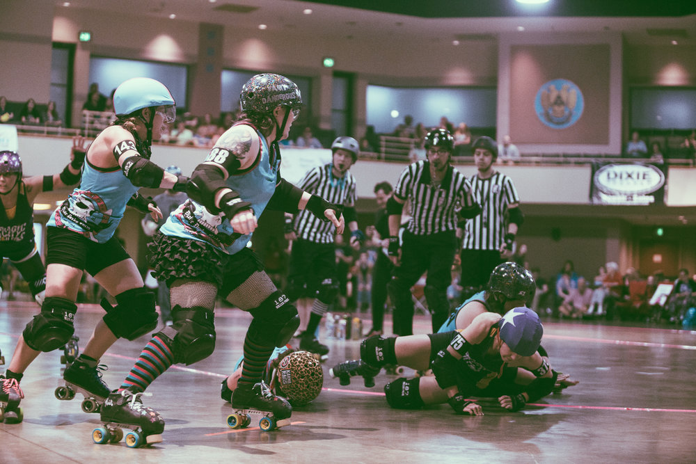 Tragic City Rollers vs. Dixie Derby Girls
