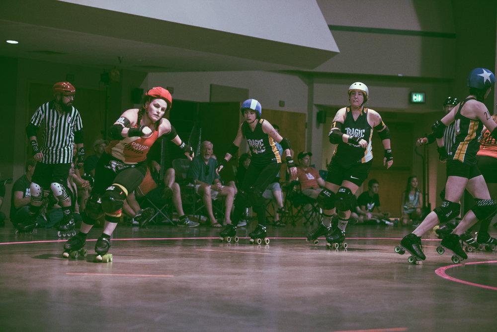 Tragic City Rollers vs. Druid City Dames