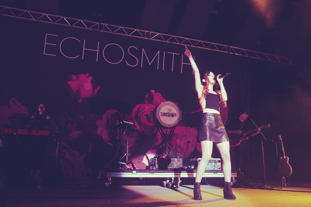 Echosmith performs in concer at the Oak Mountain Amphitheatre in Pelham, Alabama on August 2nd, 2018. (Photo by David A. Smith/DSmithScenes)
