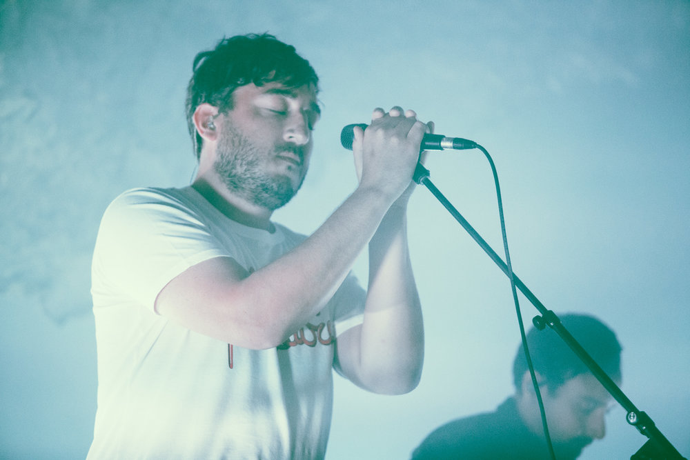 Ed Droste of Grizzly Bear performs in concert at Iron City in Birmingham, Alabama on September 9th, 2018. (Photo by David A. Smith/DSmithScenes)