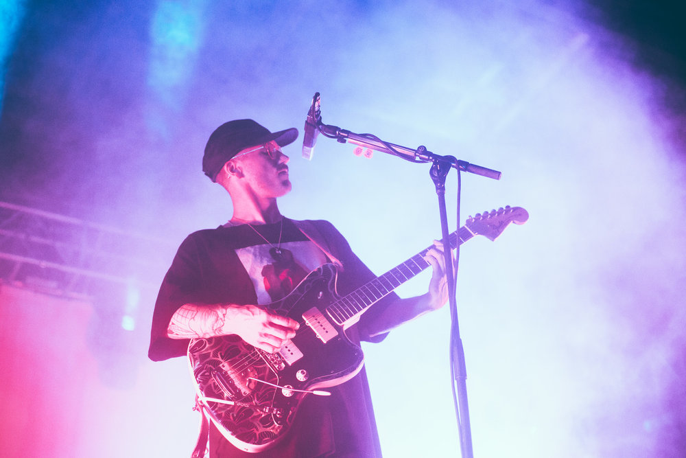 John Gourley of Portugal. The Man performs in concert at Avondale Brewing in Birmingham, Alabama on September 13th, 2018. (Photo by David A. Smith/DSmithScenes)