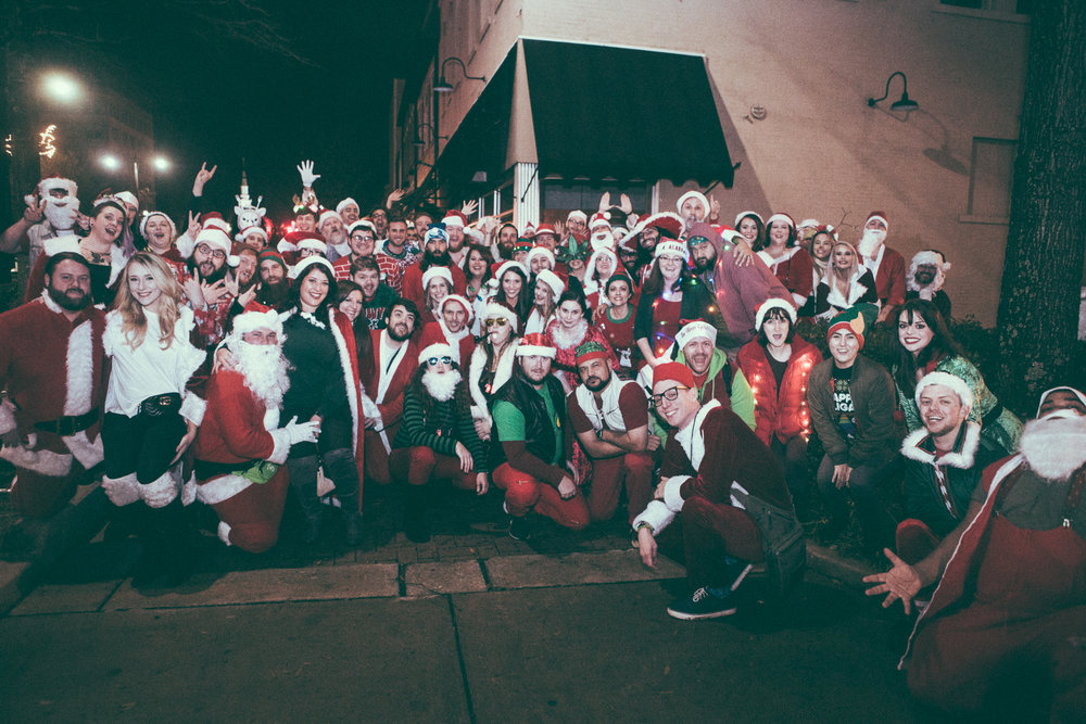 The 2018 edition of Tuscaloosa SantaCon took place on December 14th, 2018. (Photo by David A. Smith / DsmithScenes)