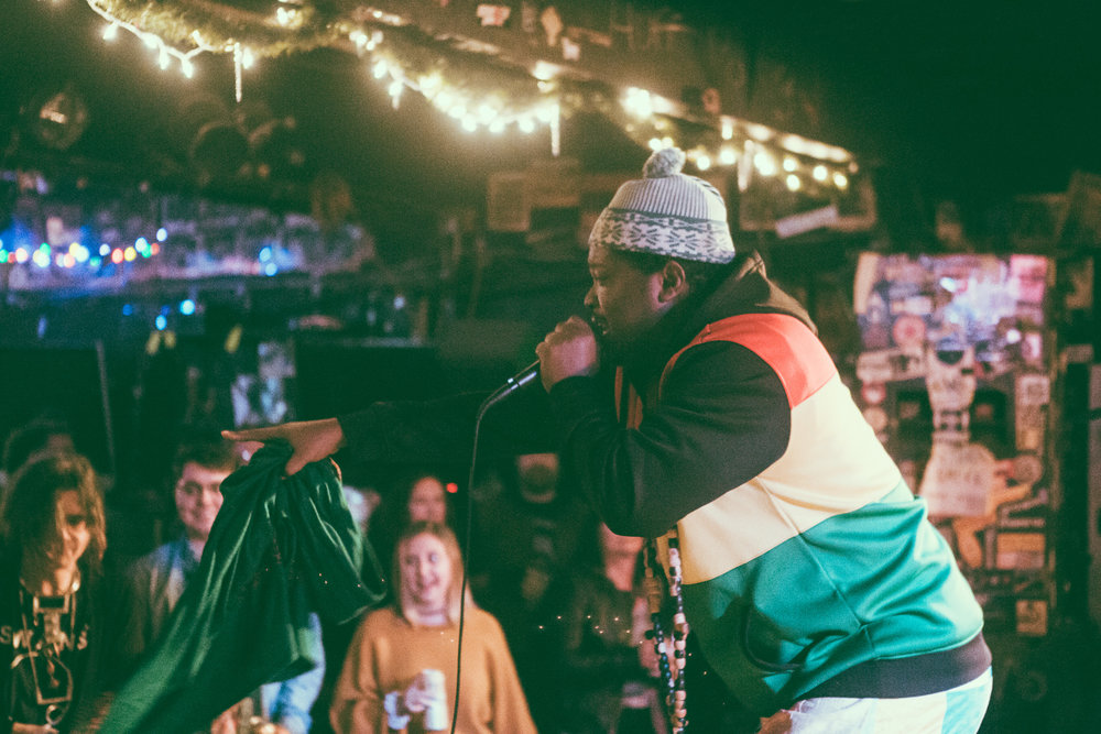 Shaheed and DJ Supreme perform in concert at The Nick in Birmingham, Alabama on December 28th, 2018. (Photo by David A. Smith / DSmithScenes)
