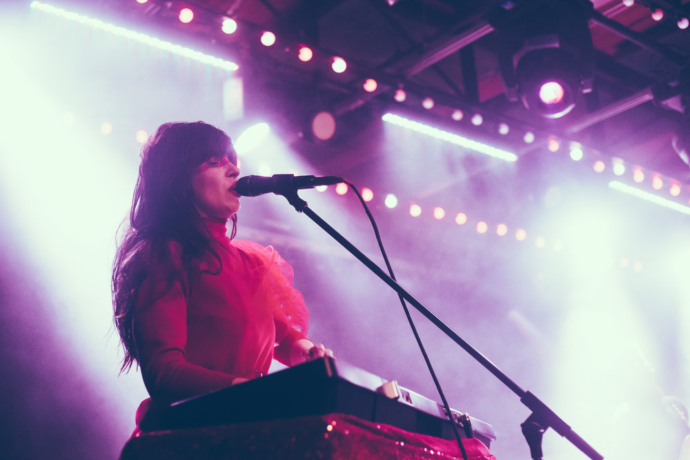 Teri Gender Bender of Le Butcherettes performs in concert at Saturn Birmingham in Birmingham, Alabama on March 6th, 2019. (Photo by David A. Smith / DSmithScenes)