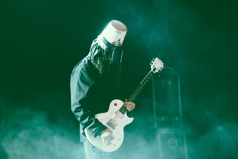 Buckethead performs in concert at Iron City in Birmingham, Alabama on March 26th, 2019. (Photo by David A. Smith / DSmithScenes)