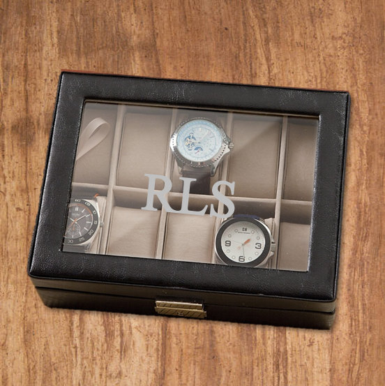 men s watch box personalized a single initial engraved men s watch box personalized a single initial engraved groomsmen gift birthday gift for him wedding gift father s day