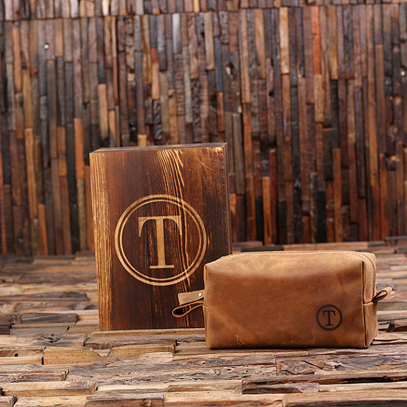 8d8f8d1eb65d Personalized Leather Travel Shaving Bag
