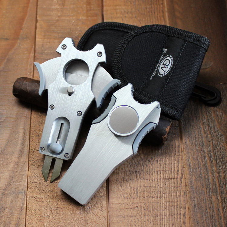 2 gentleman s vice 5 in 1 cigar cutter with divot repair tools in