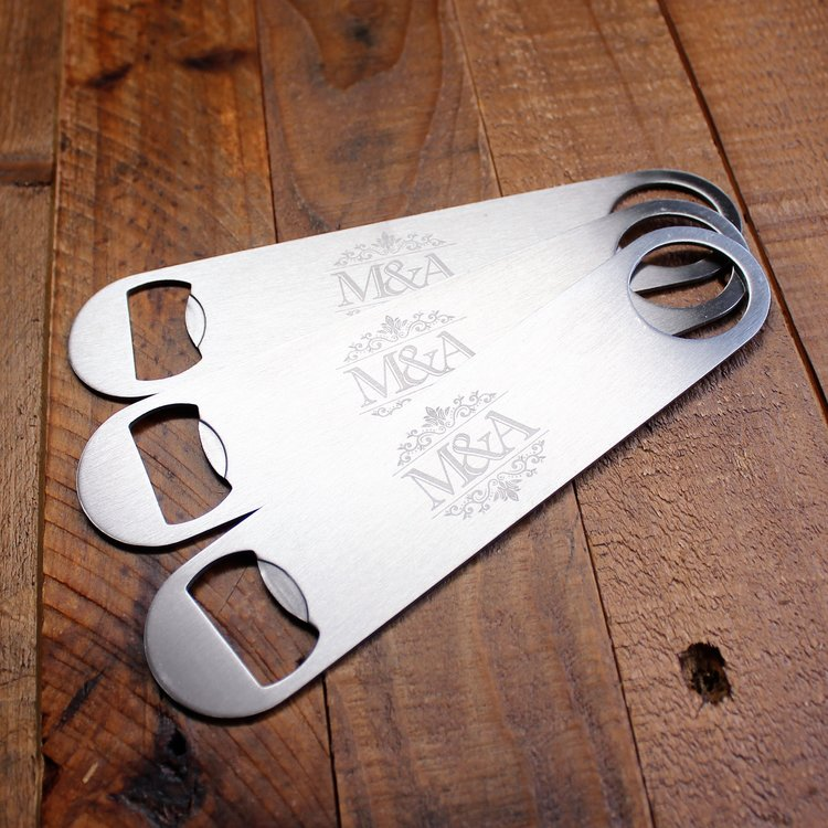 10 Personalized Stainless Steel Beer Bottler Opener Personalized