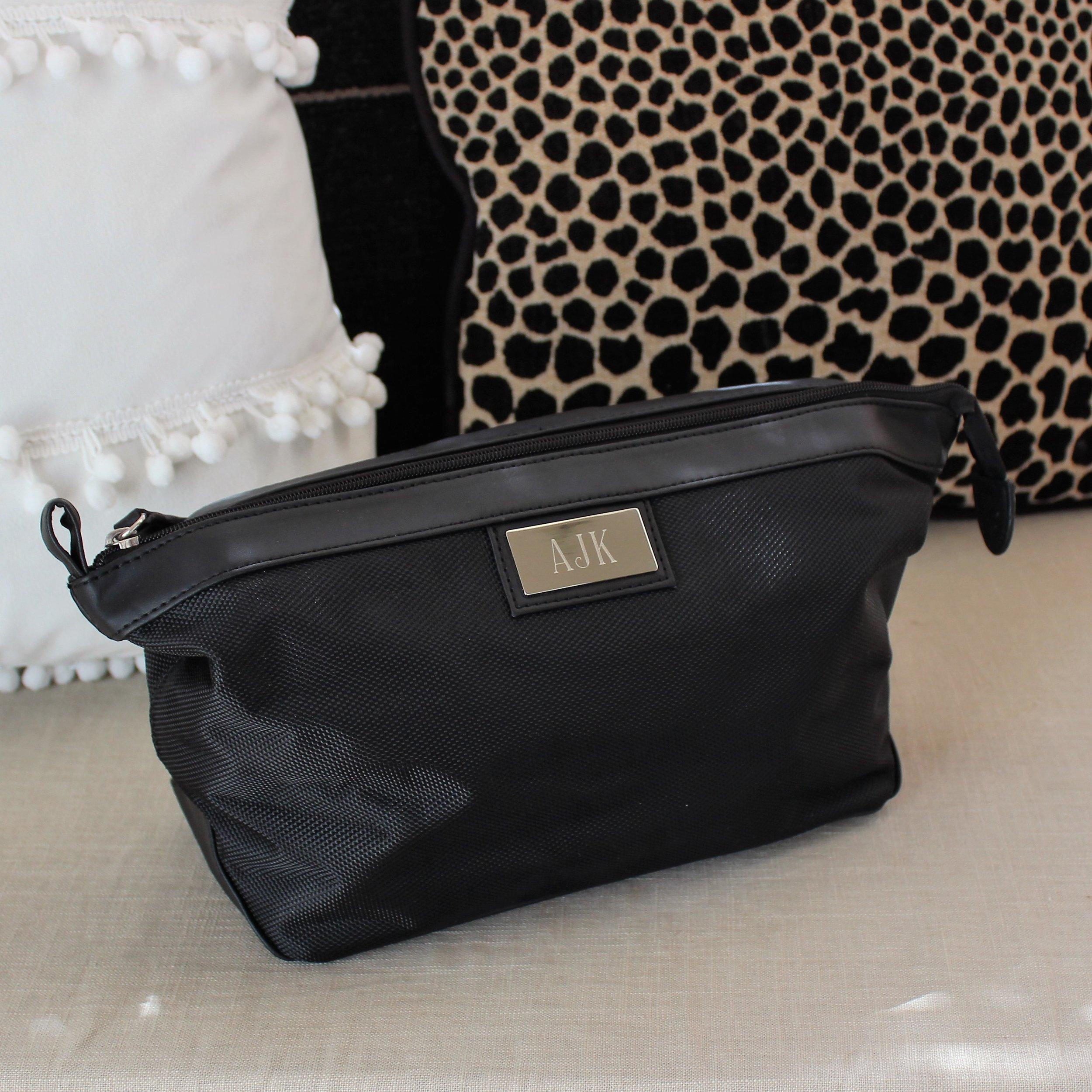 c93909f861 Black Nylon And PVC Shaving Travel and Shaving Bag