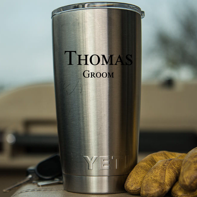 Personalized Yeti Rambler 20 Oz Stainless Steel Vacuum Insulated Tumbler With Lid Personalized Groomsmen Gifts Father S Day Dad Corporate Gift