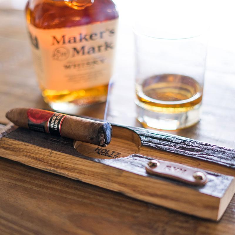 Personalized Tennessee Whiskey Barrel Cigar Holder with Ashtray - Personalized Groomsmen Gift for Men Birthday Gift Gifts For Him DSH & Cigar Accessories u2014 The Best Man Gifts