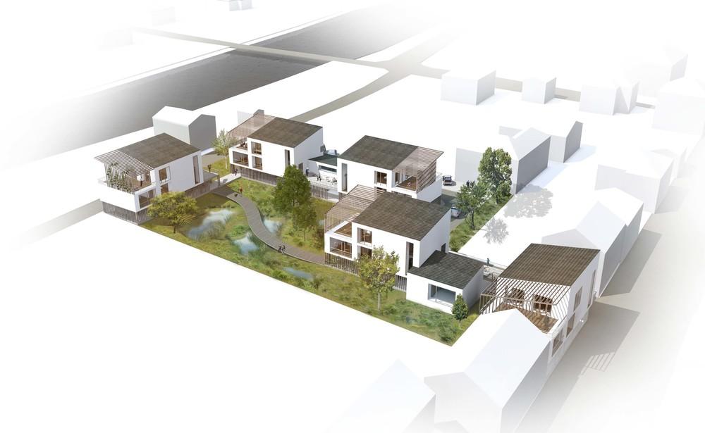 Habitat participatif en zone inondable, Vaux-sur-Seine