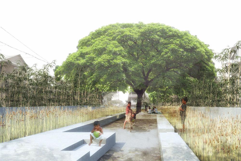 Espace public actif, Siem Reap