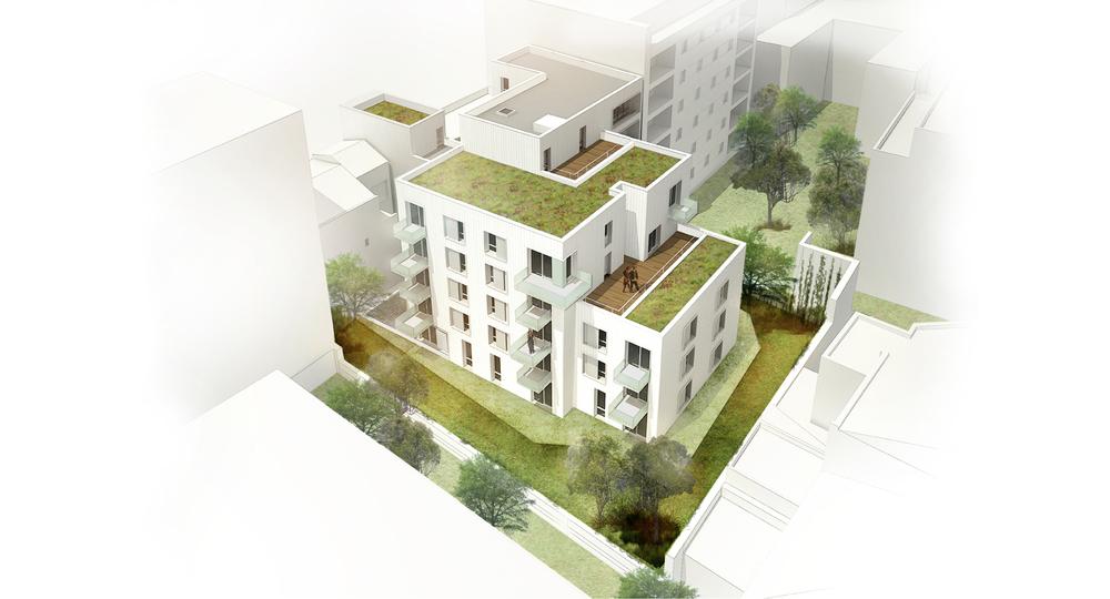 Logements collectifs en zone dense, Paris