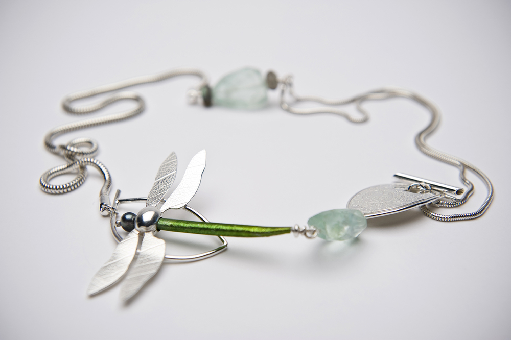 Lorraine-Gibby-jewellery-commission-dragonfly-necklace-silver-aluminium-fluorite-pearl-mettle-studios.jpg