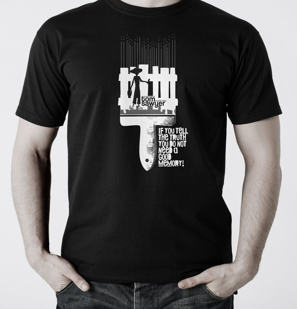TOM SAWYER   Black T-shirt