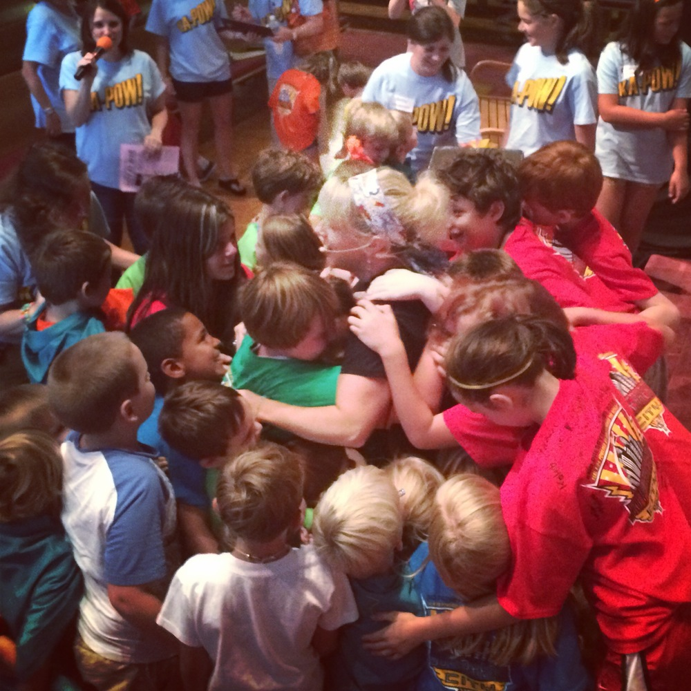 Superhero City in Knoxville. Group hug on the last day. Glad I only live four hours away from these precious ones!