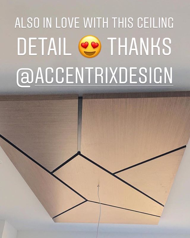 We love seeing progress pictures from our clients! This custom ceiling panel we designed is looking 👌 . . . . . #accetrixdesign #ceilingdetails #custommillwork #newconstruction #interiordesign #itsallinthedetails #yvrdesign