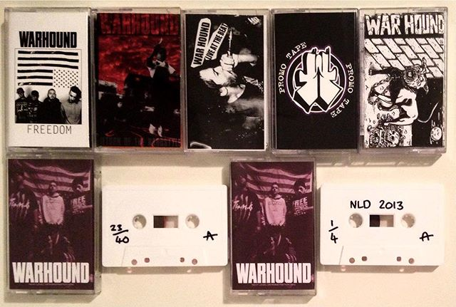 @mxmln_hgr has a sick WARHOUND tape collection!!! #warhound