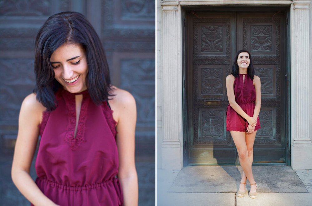 9-York-PA-Ken-Bruggeman-Photography-Senior-Portraits-Young-Woman-Laughing-Cast-Iron-Doors.jpg