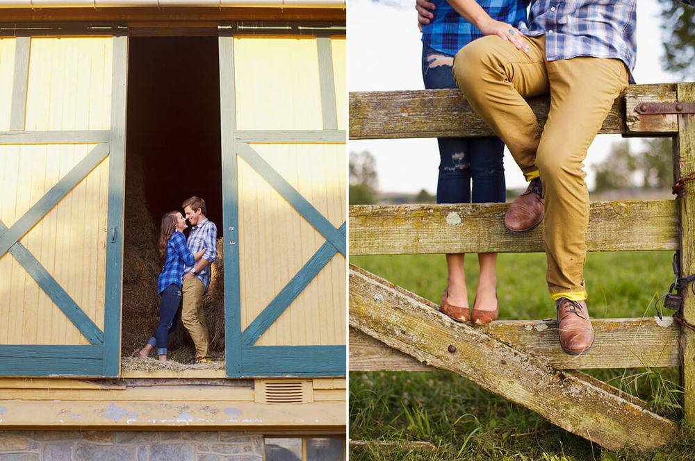 4-Ken-Bruggeman-Photography-York-PA-Engagement-Couple-Laughing-Sitting-Fence-Barn.jpg