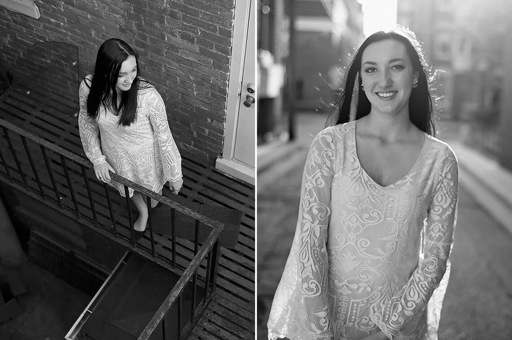 2-Senior-Portrait-Photography-York-PA-Ken-Bruggeman-Girl-Standing-Fire-Escape.jpg