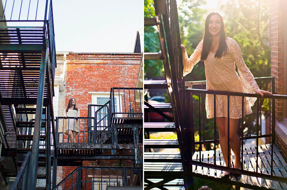 3-Senior-Portrait-Photography-York-PA-Ken-Bruggeman-Sunburst-Girl-Smiling-Fire-Escape.jpg