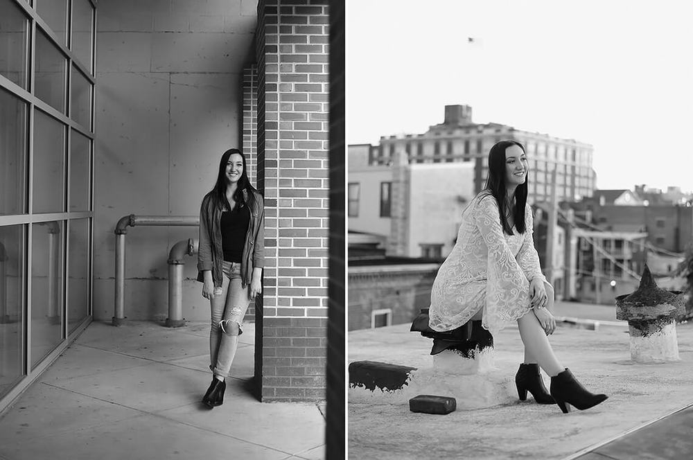 9-Senior-Portrait-Photography-York-PA-Ken-Bruggeman-Girl-Sitting-Rooftop-Black-White.jpg