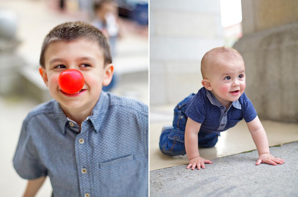 4-Ken-Bruggeman-York-PA-Family-Photography-Martones-Boy-Red-Clown-Nose-Baby-Crawling.jpg