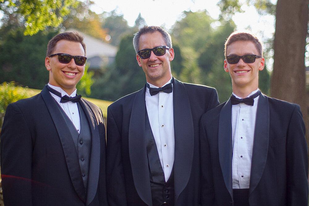 9-Formal-Family-Photography-Ken Bruggeman-York-PA-Men-Tuxedo-Sunglasses.jpg