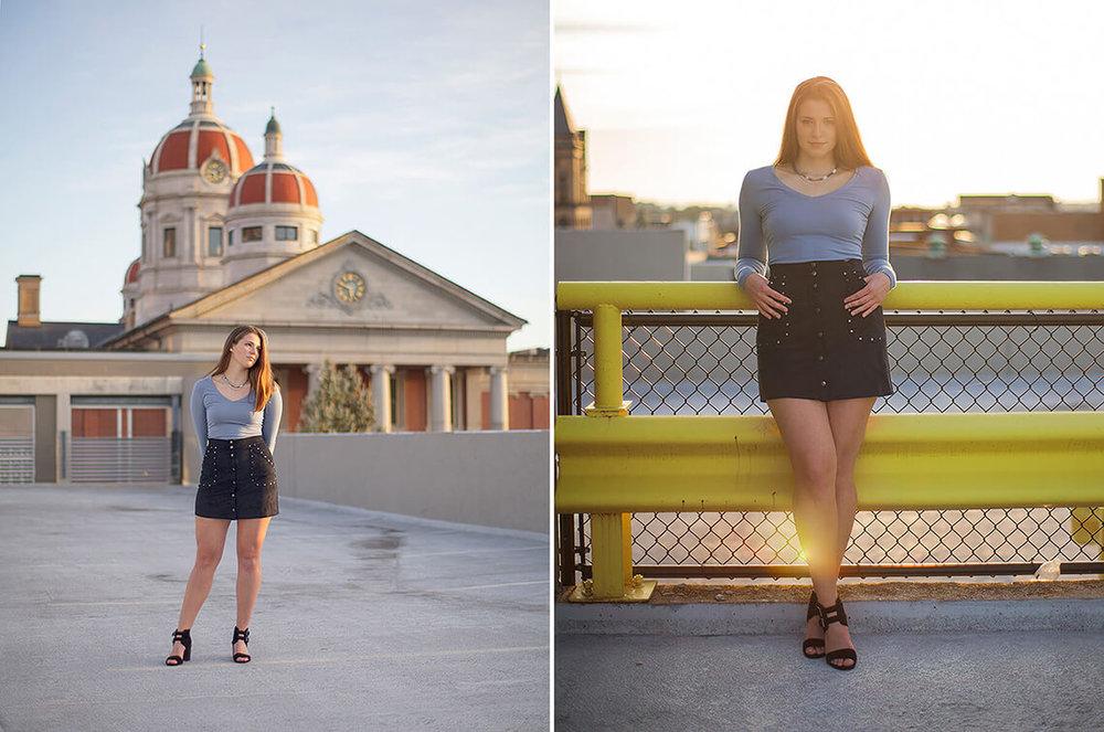 8-York-PA-Senior-Portraits-Ken-Bruggeman-Photography-Girl-Standing-Rooftop-City-Domes.jpg