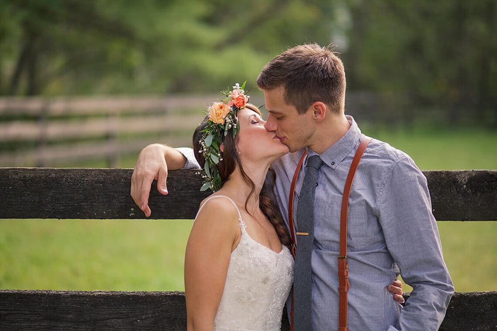 24-Wedding-Photographer-York-PA-Ken-Bruggeman-Bride-Groom-Kissing-Farm.jpg