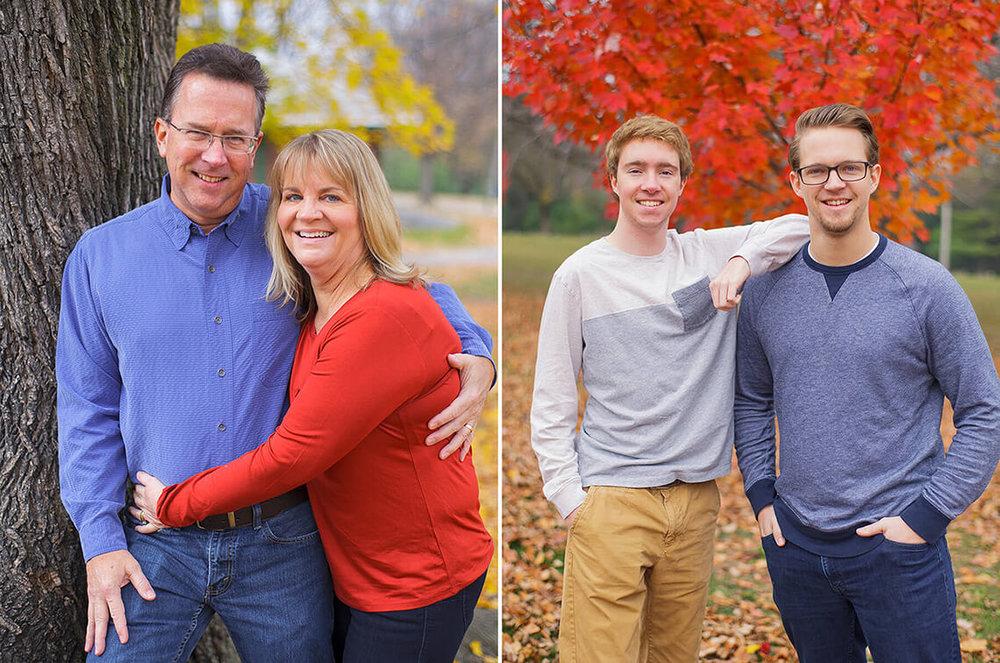 10-Photographer-York-PA-Ken-Bruggeman-Family-Portraits-Mom-Red-Shirt-Matches-Autumn-Tree.jpg