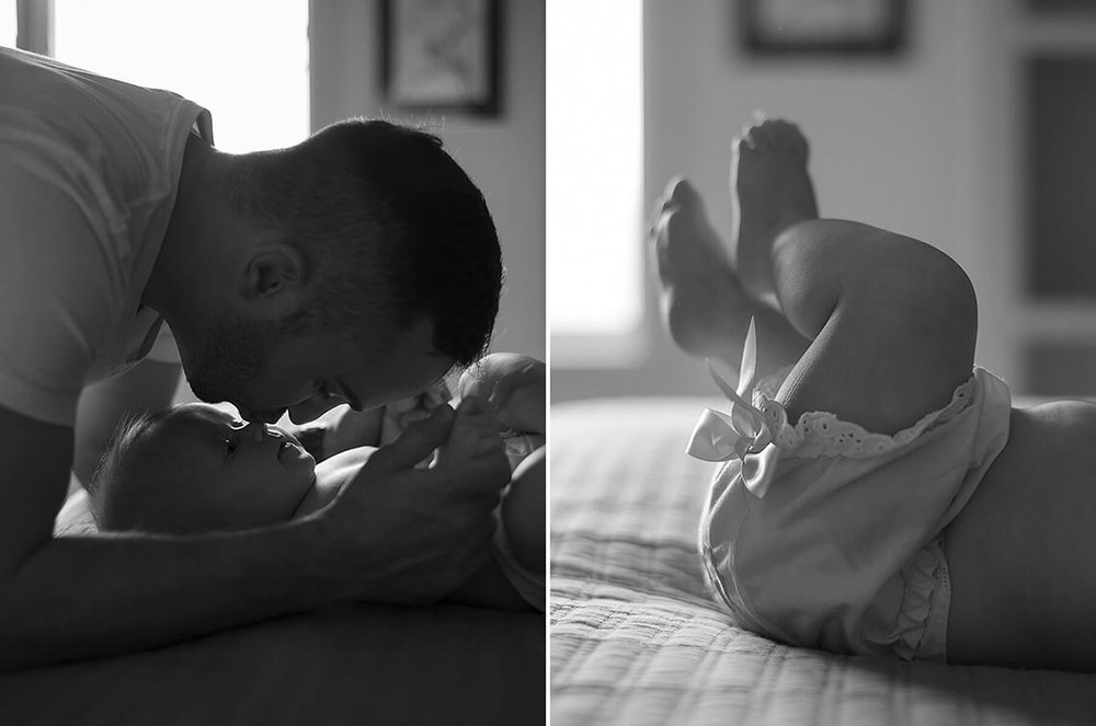 3-Family-Photographer-York_PA-Ken-Bruggeman-Photography-Black-White-Dad-Kissing-Baby-Nose.jpg