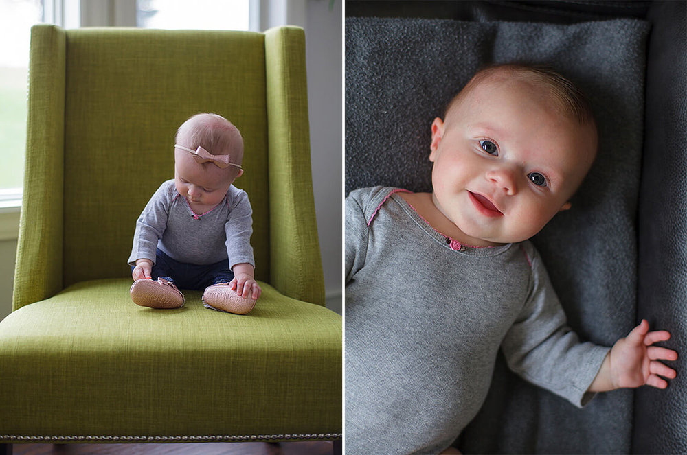 6-Family-Photographer-York_PA-Ken-Bruggeman-Photography-Baby-Sitting-Green-Chair-Laying-Black-Leather-Couch.jpg