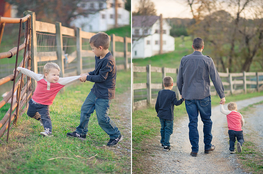 9-Family-Photographer-York-PA-Ken-Bruggeman-Photography-Phillips-Family-Portraits-Brothers-Walking-Holding-Dads-Hand.jpg