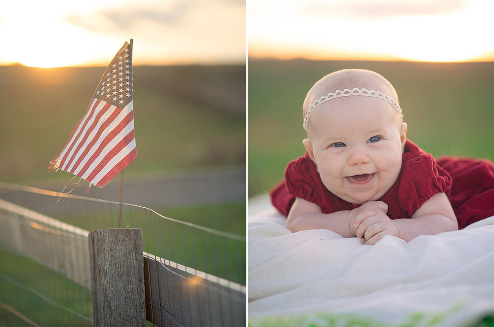 11-Family-Photographer-York-PA-Ken-Bruggeman-Photography-Phillips-Family-Portraits-American-Flag-Sunset-Infant-Girl-Laughing.jpg