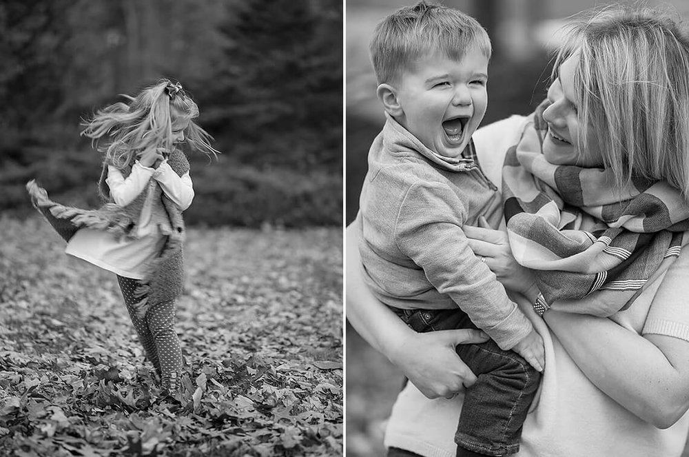 6-Family-Photographer-York-PA-Ken-Bruggeman-Photography-Black-White-Girl-Dancing-Leaves.jpg
